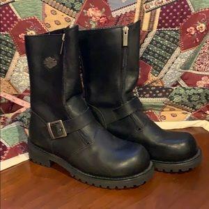 Harley-Davidson Black Leather Boots
